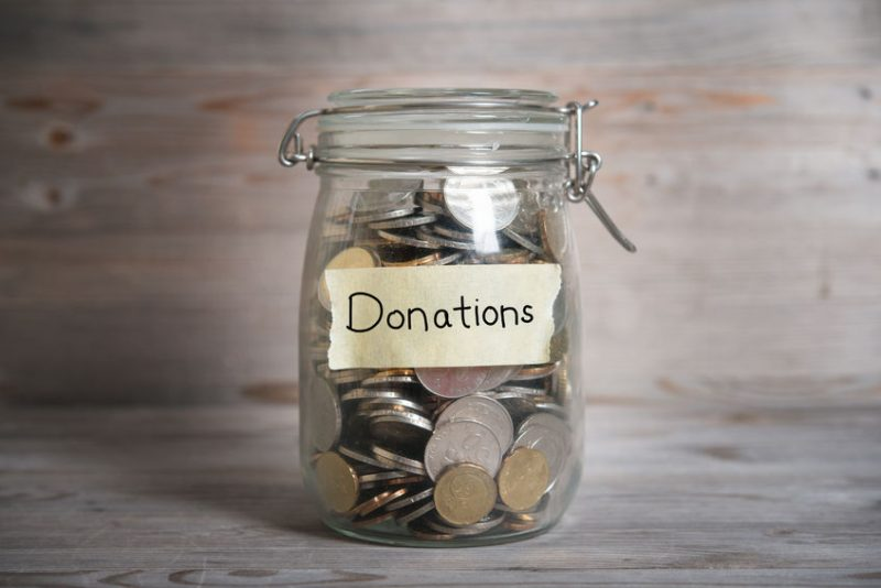 Donations doubled in June